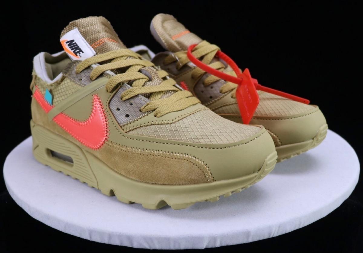 Off white X Nike Air Max 90 Desert Ore Importación B )