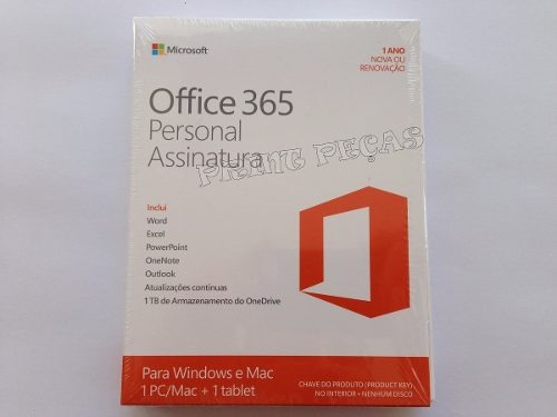 office 2016 365 personal anual 1 pc/mac + 1 telefone/tablet
