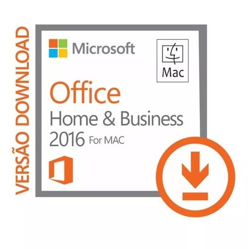 office 2016 for mac - home and business - vitalício