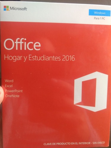 office 2016 hogar y estudiantes (word, excel , power, point)