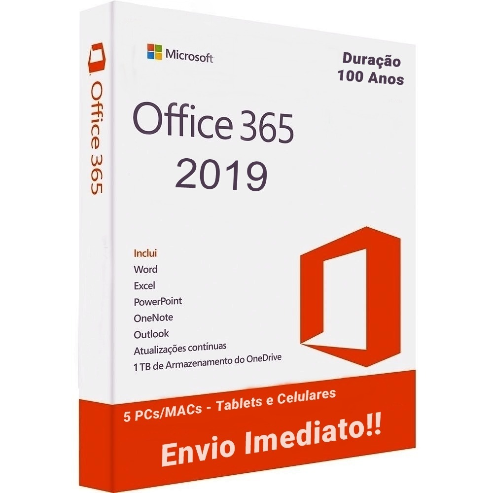 59647fd4e Office 365 2019 Original 5 Pcs macs + 1tb Onedrive - R  14