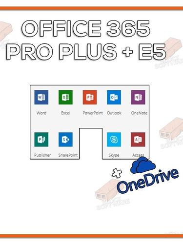 office 365 pro plus - licença original - 5 pc + onedrive