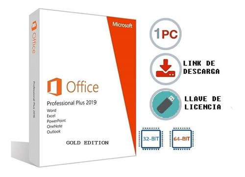 office proffesional pro plus gold edition + act.