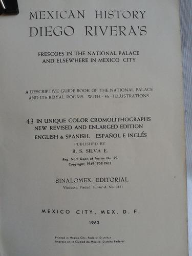 official guide book to diego rivera´s en inglés y español