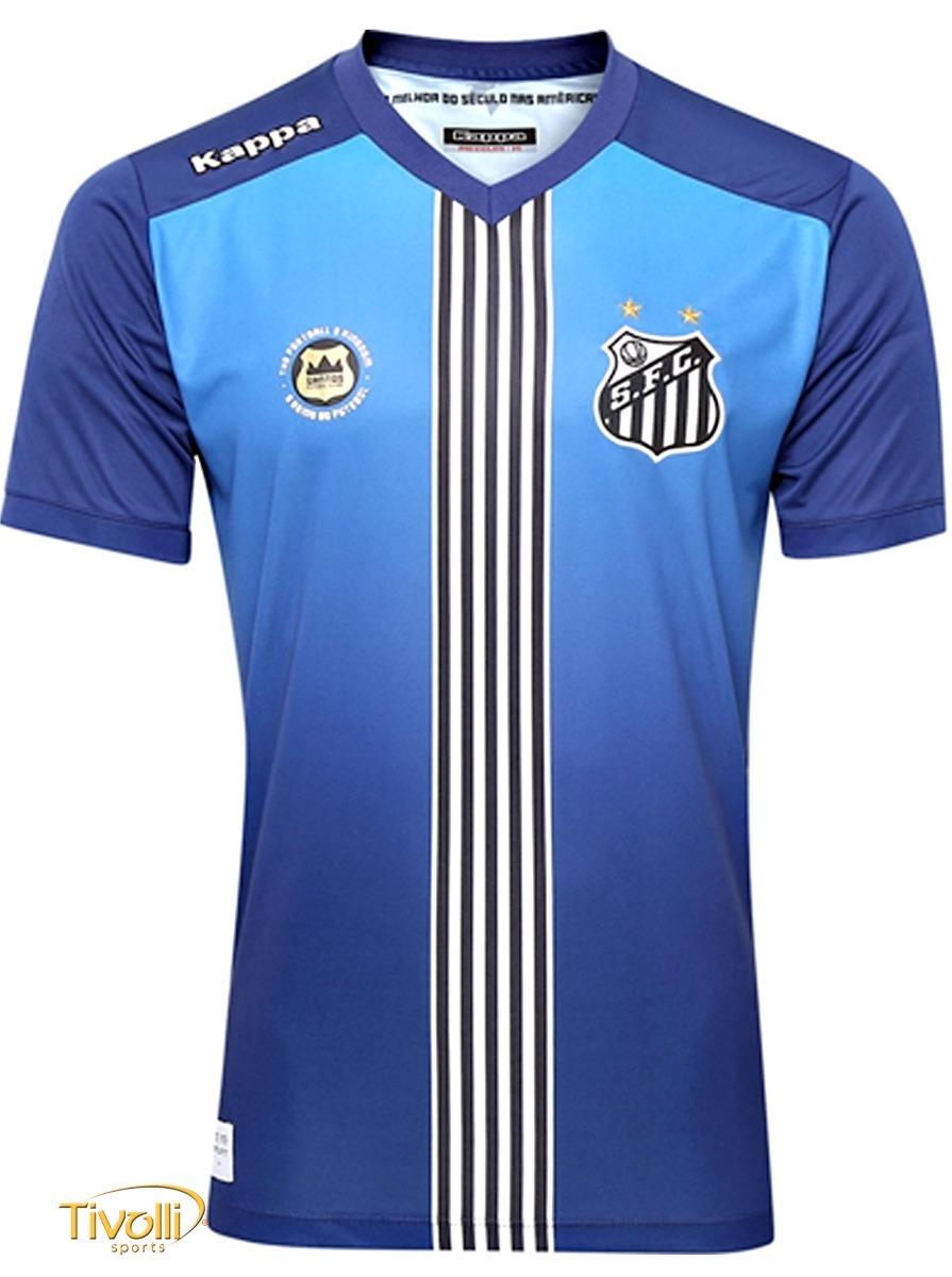 d53aeba7aea93 Oficial! Camisa Santos Azul Uniforme 3 Kappa 2016 2017 Nova!