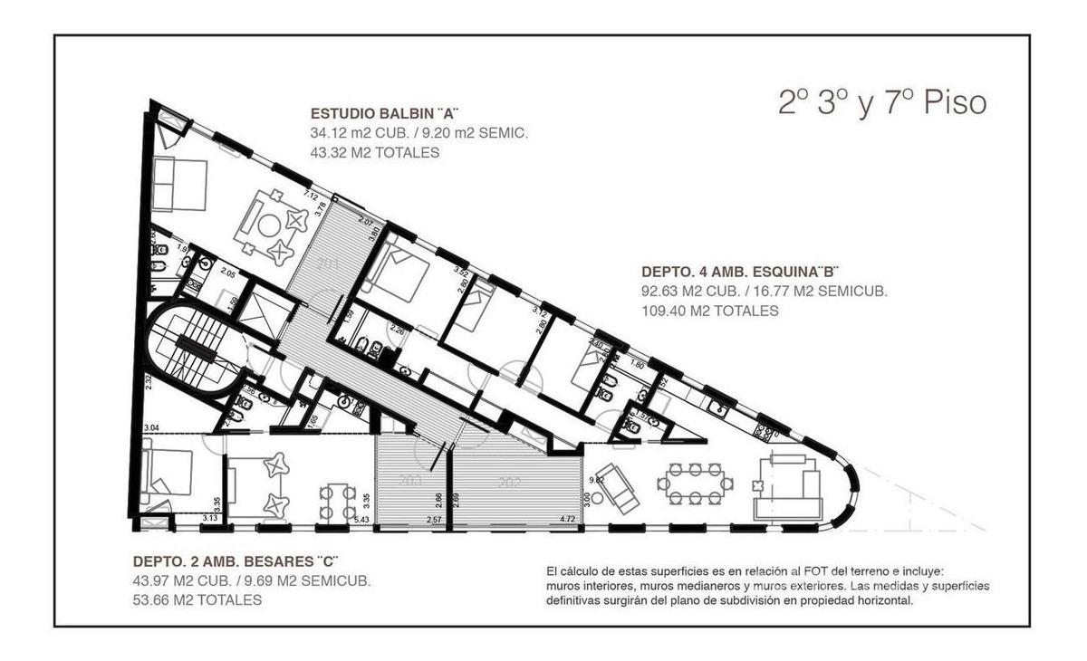 oficina 3 amb con terraza semicubierta - saavedra