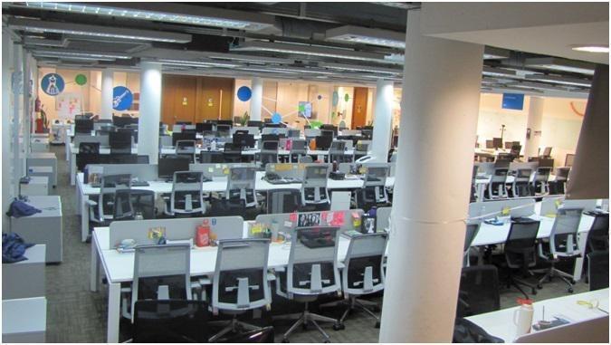 oficina - alquiler amoblada - parque patricios - 230m2 de alfombra - 40/50 puestos de trabajo