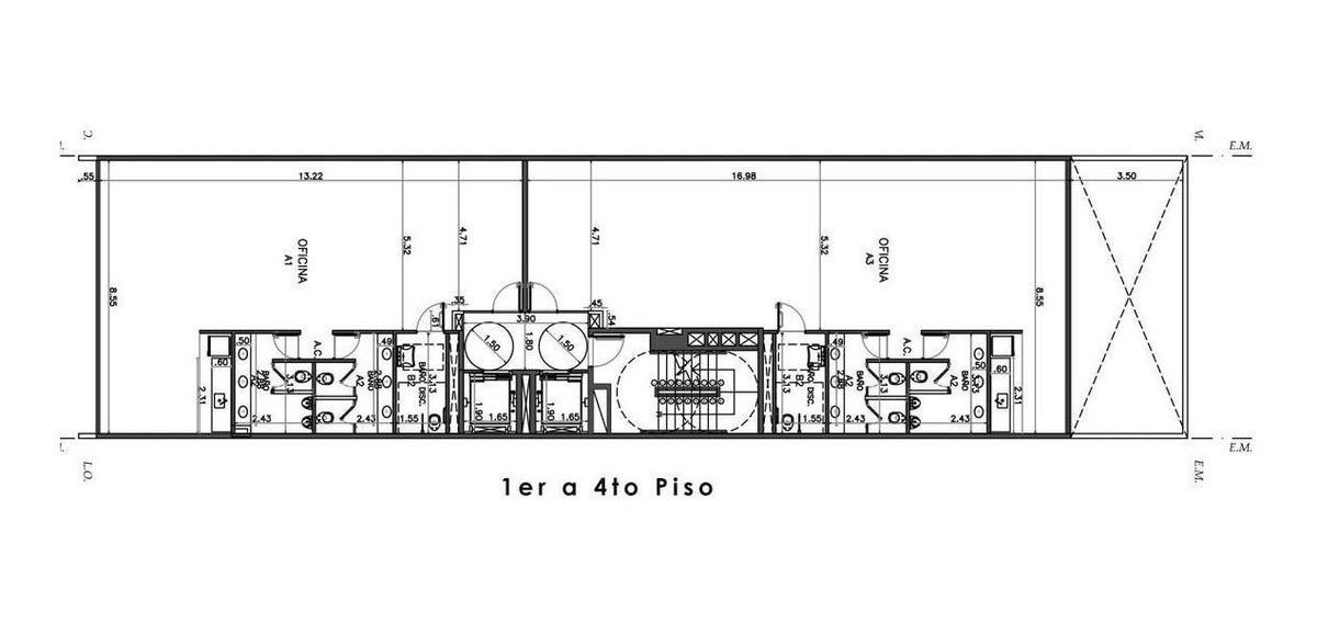 oficina - alquiler - parque patricios - 109m2