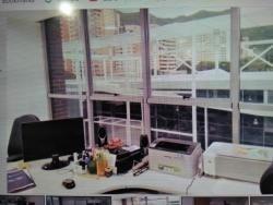 oficina. c.c. trigaleña plaza. amoblada.wc