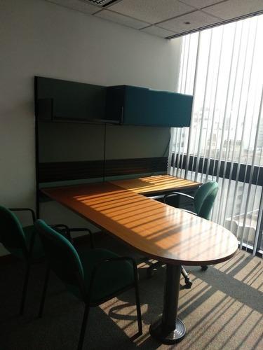 oficina completamente equipada en renta para 3 persona en polanco.