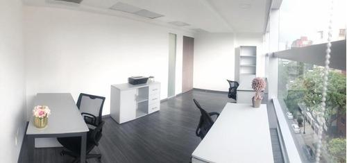 oficina completamente equipada en renta para 5 personas en colonia granada.