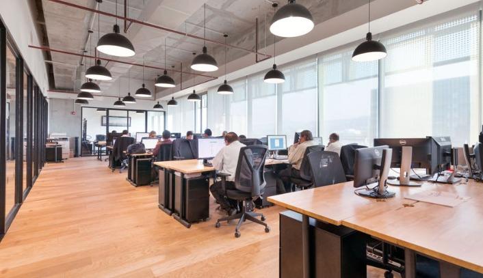 oficina completamente equipada para 8 personas en contadero, santa fe