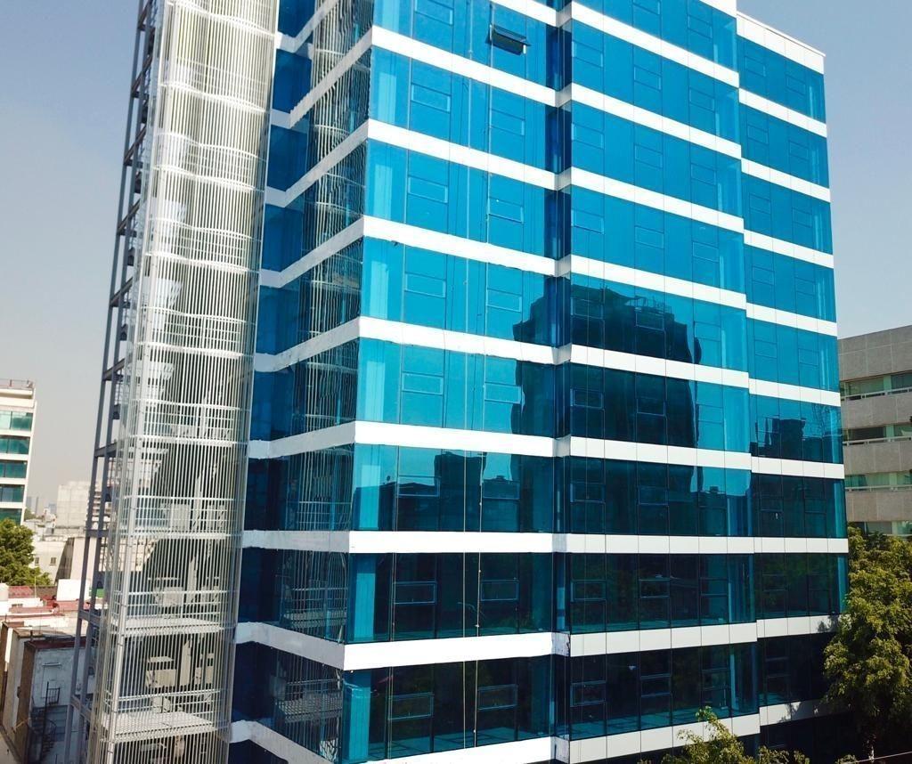 oficina de 40 m2, en edificio corporativo colonia roma sur, esq. insurgentes sur
