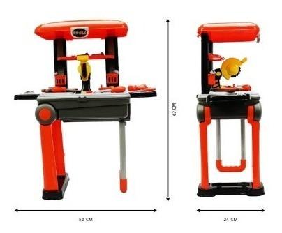 oficina de brinquedo carrinho de ferramentas infantil
