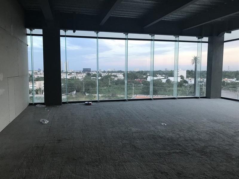oficina de una planta en sky city, san ramón nte, en renta, mérida,yuc