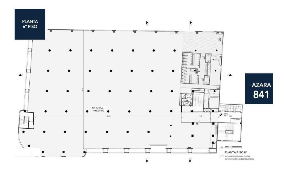 oficina en alquiler - 4352 m2 - barracas
