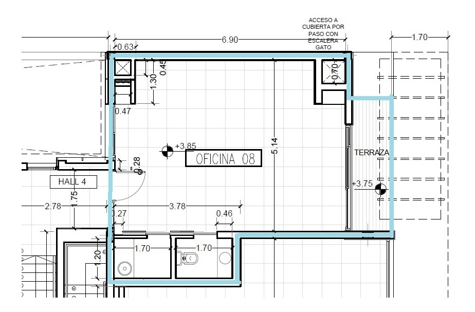 oficina en alquiler | avda. 31 e/505y507 ( bloque b- ofic.8)