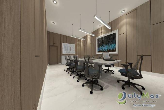 oficina en alquiler en torre empresarial en piantini