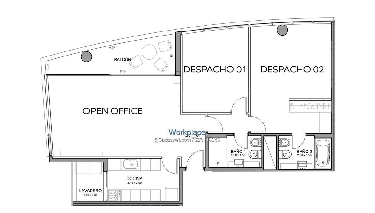 oficina en avenida de las américas - alquiler o venta
