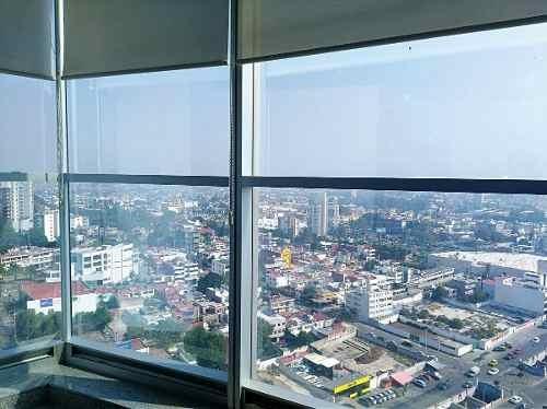 oficina en renta con mobiliario / 151 m2 torre corporativa en av. juárez