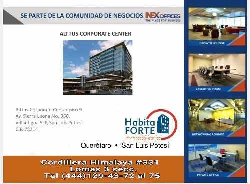 oficina en renta en nex ofices  (alttus torre de oficinas)