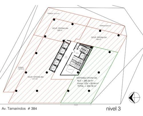 oficina en renta en tamarindos, col. bosques de las lomas, cuajimalpa, cdmx