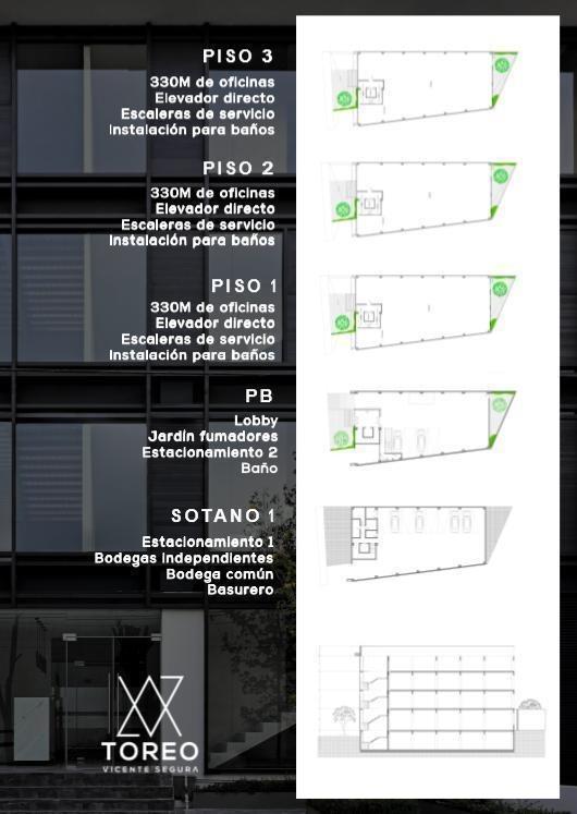 oficina en renta - lomas de sotelo naucalpan de juarez (varias medidas) , toreo