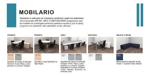 oficina en renta recien acondicionada y amueblada , plaza polanco