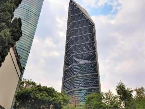oficina en renta reforma piso 45 con 707 m2 torreref
