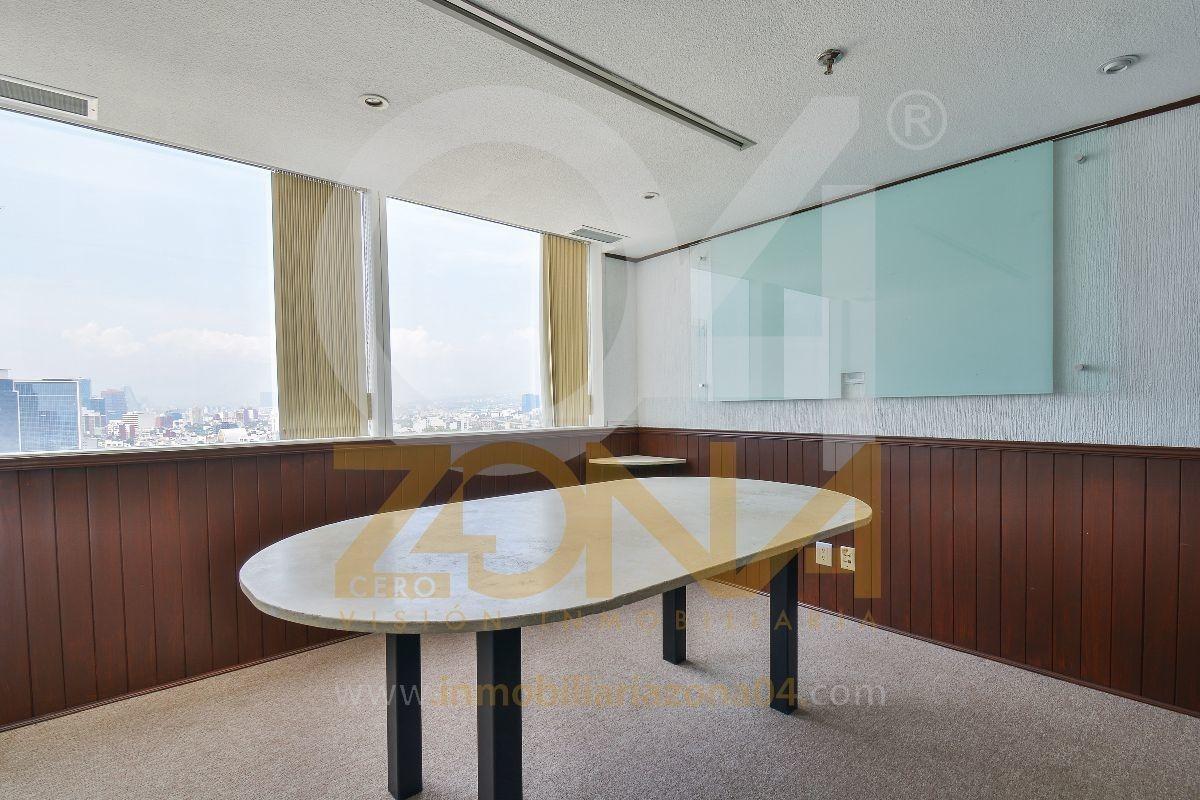 oficina en renta wtc, piso 19, oficina 7 y 8 de 80 m2
