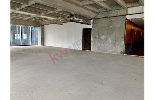 oficina en venta en downtown santa fe 577m2 en obra gris lista para acondicionar enfrente del parque la mexicana