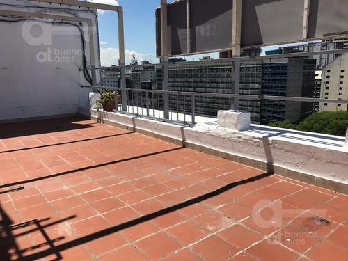 oficina frente a 9 de julio. terraza propia- san nicolas