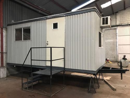 oficina movil de  8x20 pies con wc para 3 personas renovada