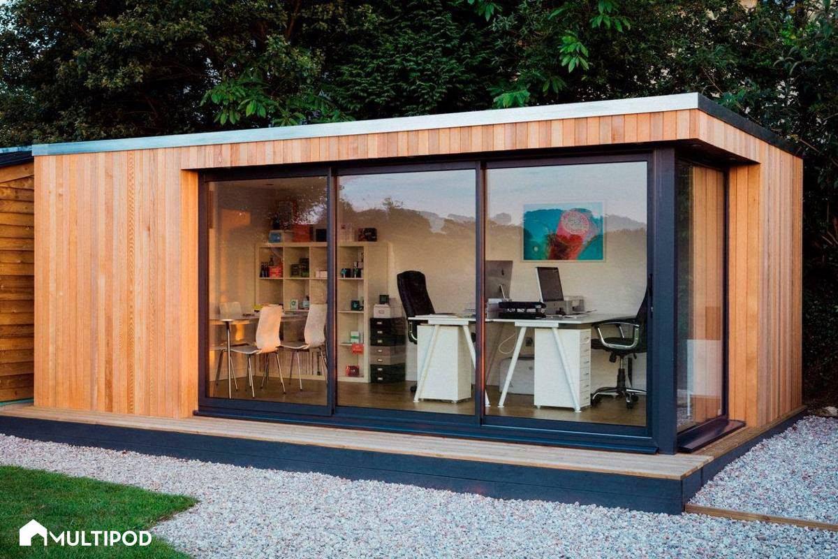 Oficina movil estudio habitaci n construcion prefabricada for Oficinas moviles