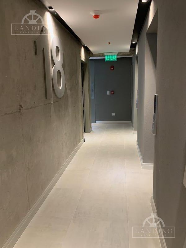 oficina - palmera bureau - puerto de olivos, a estrenar, medio piso vista al rio, piso 18