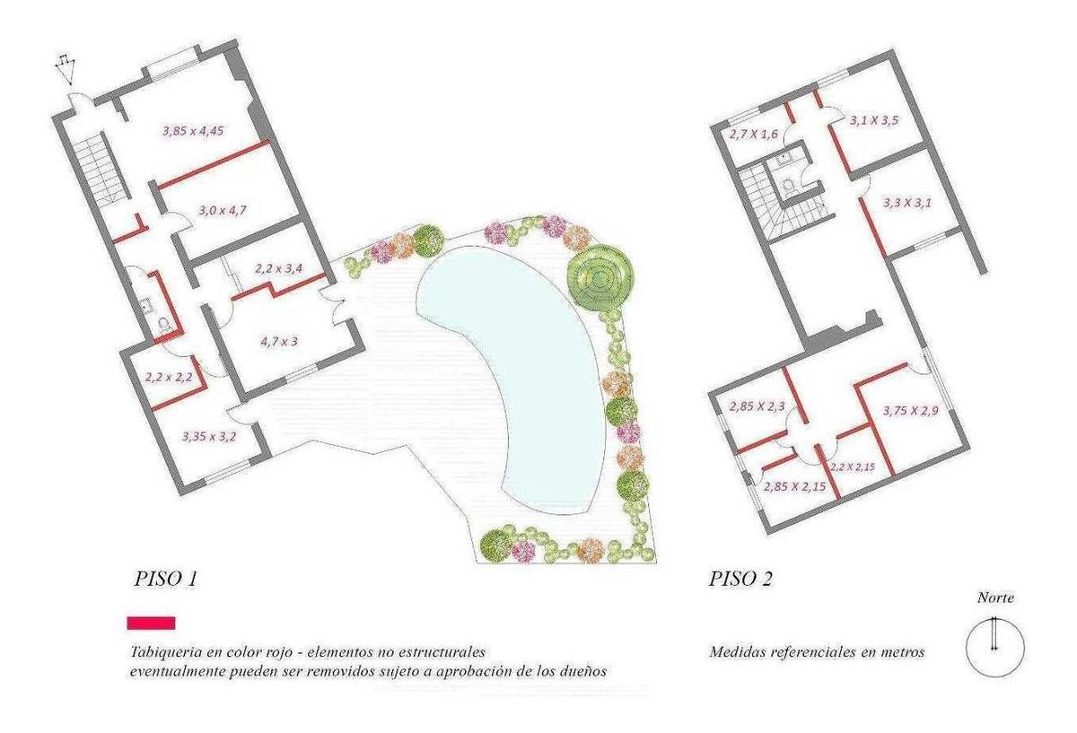 oficina, patio i casa avenida providencia (interno: 190285)