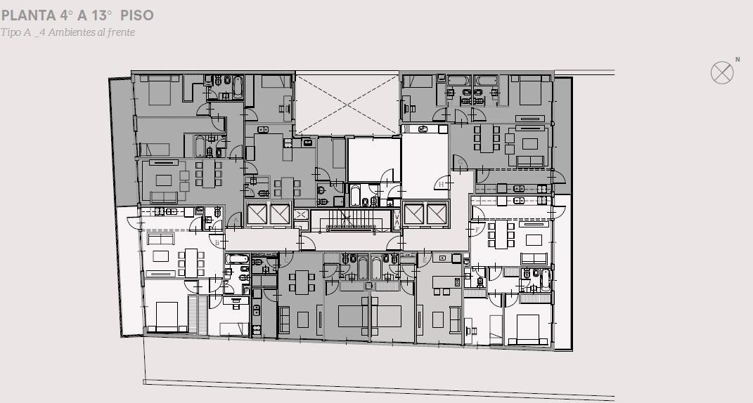 oficina planta libre de 115.88 m2 - calidad de construcción y amenities
