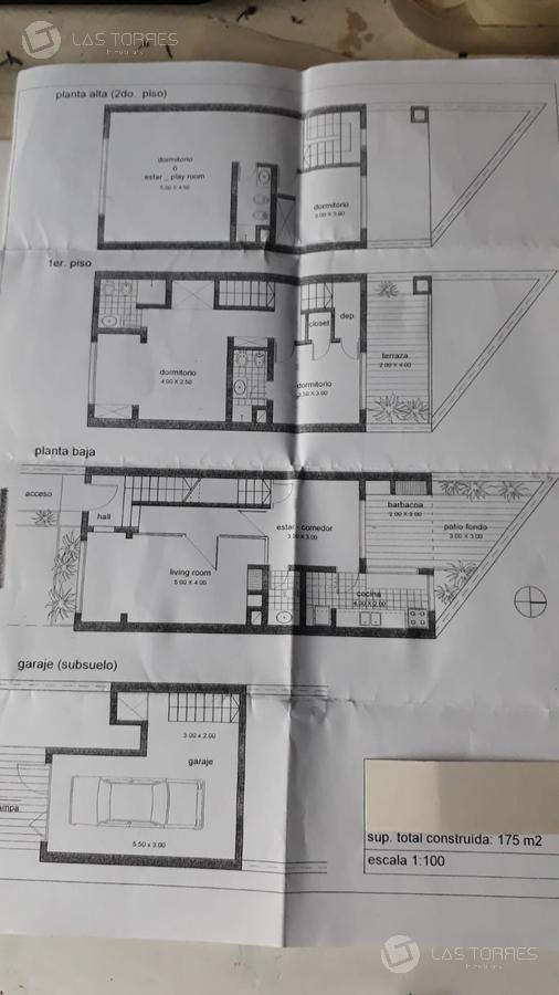 oficina - pocitos nuevo - imperdible, amplia, 3 plantas, garage