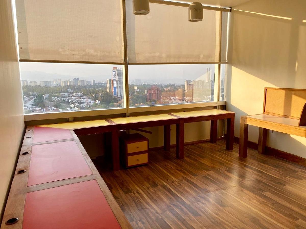 oficina  santa fe con gym y cancha padel renta