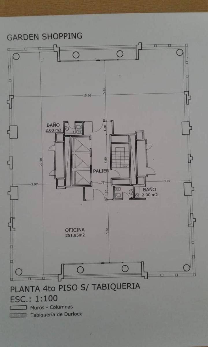 oficinas corporativas centro planta libre 260 m2