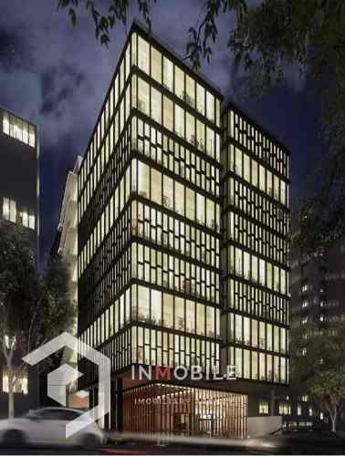 oficinas de 662 m2 en obra gris, santa fe, cdmx