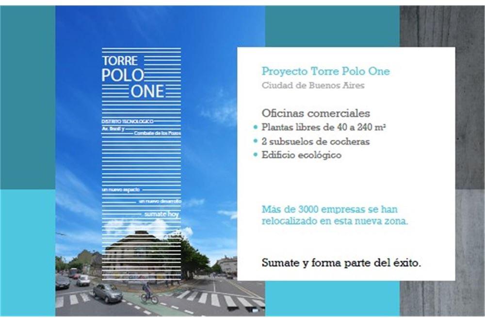 oficinas de planta libre en torre polo one