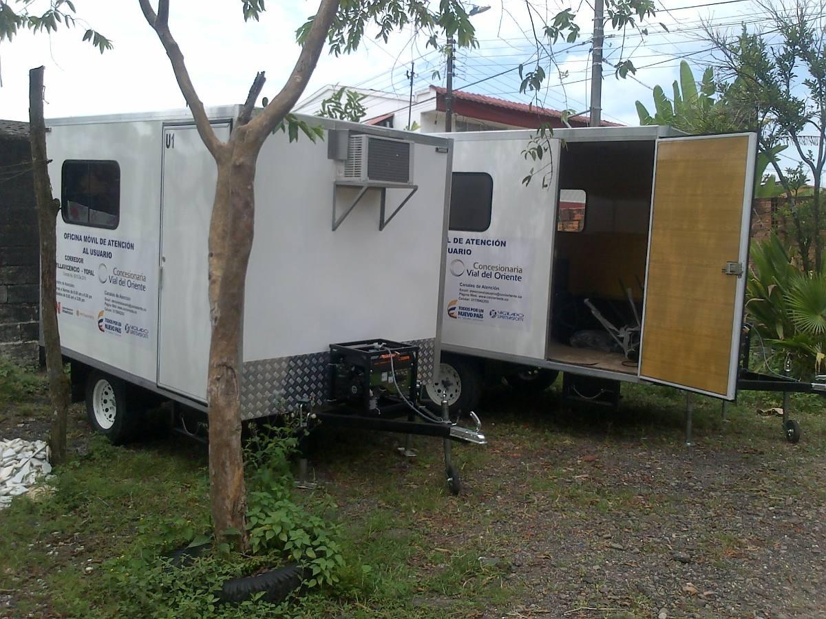 Oficinas moviles camping trailer carro casas remolques for Oficinas western union bogota