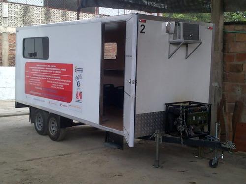 oficinas moviles, camping trailer, carro casas, remolques,