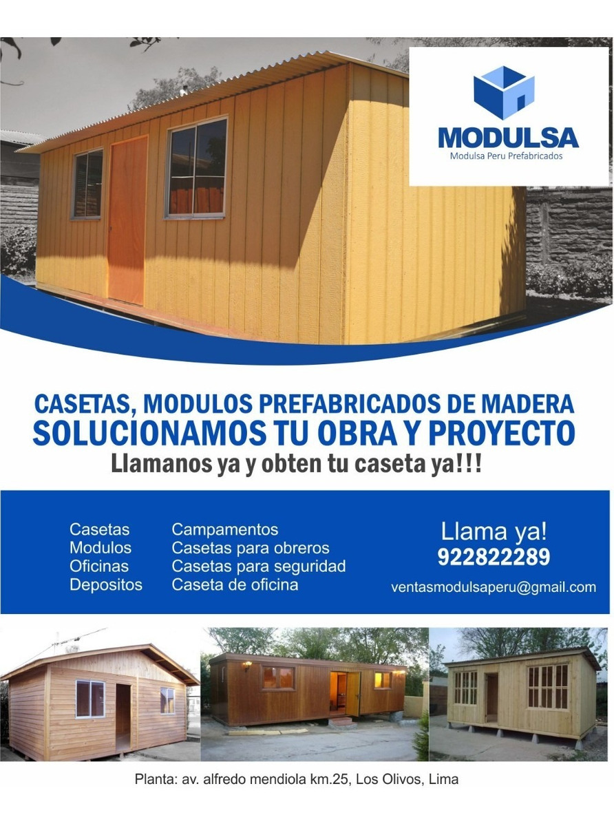 oficinas prefabricadas para obras-casetas prefabricadas