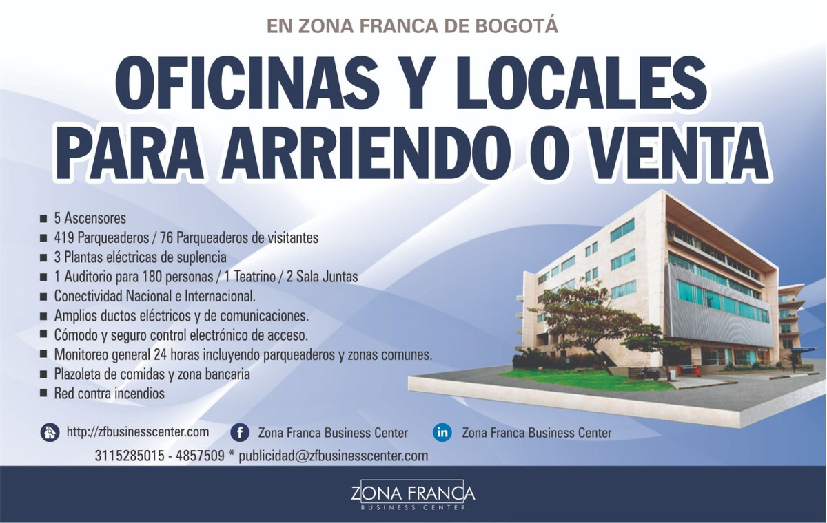 oficinas y locales arriendo o venta en zona franca