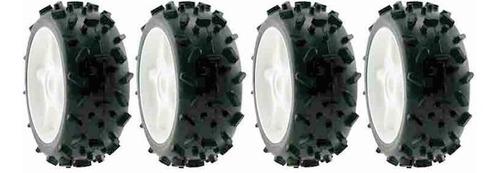 ofna set 4 llantas / rines excel tire buggy 1/8 r/c hex 17mm
