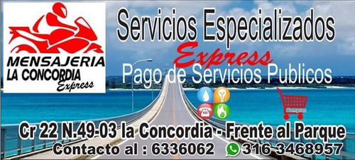 ofreceremos servicio de mensajería  solo en bucaraman