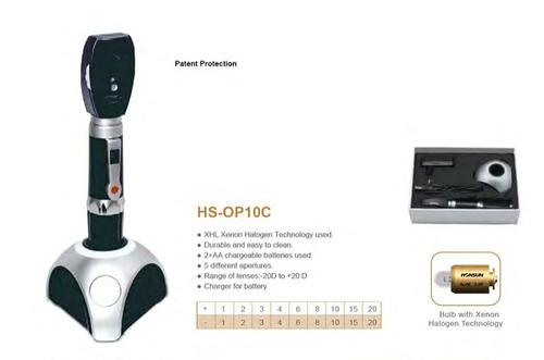 oftalmoscopio con cargador (hs-op10c)