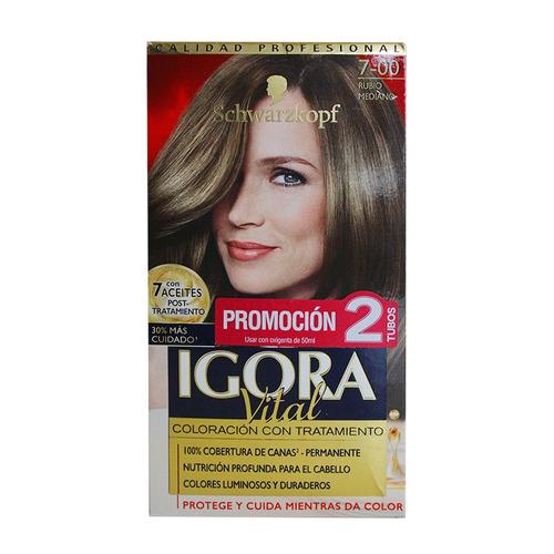 of.tinte igora vital 7-00 rubio mediano